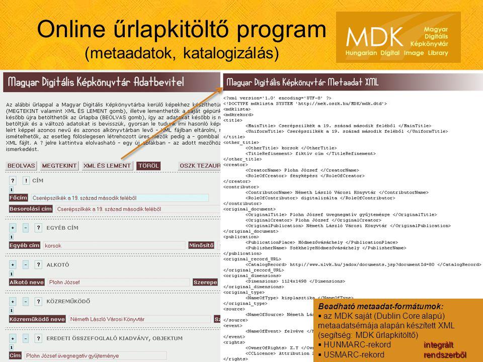 Online űrlapkitöltő program