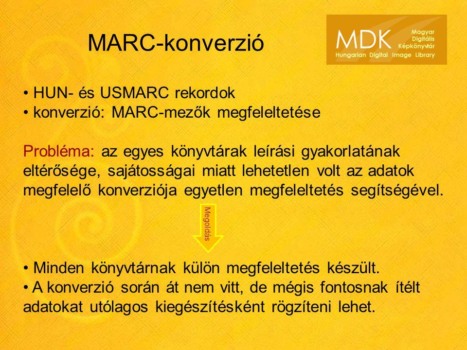 MARC-konverzió HUN- és USMARC rekordok