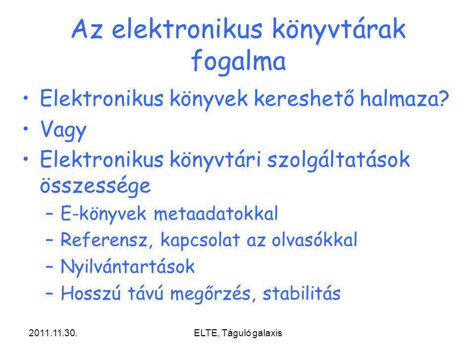 Az elektronikus könyvtárak fogalma