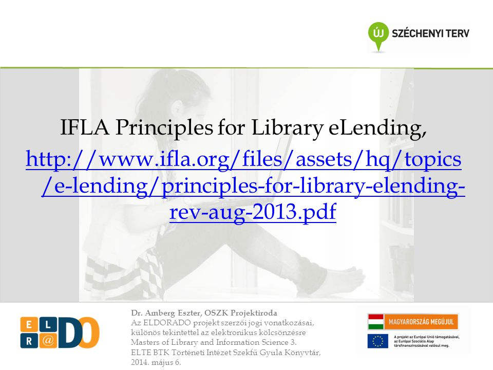 IFLA Principles for Library eLending,