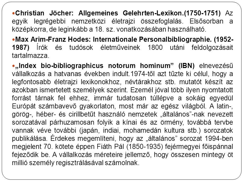 Christian Jöcher: Allgemeines Gelehrten-Lexikon