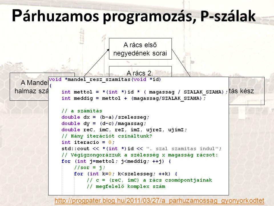 Párhuzamos programozás, P-szálak