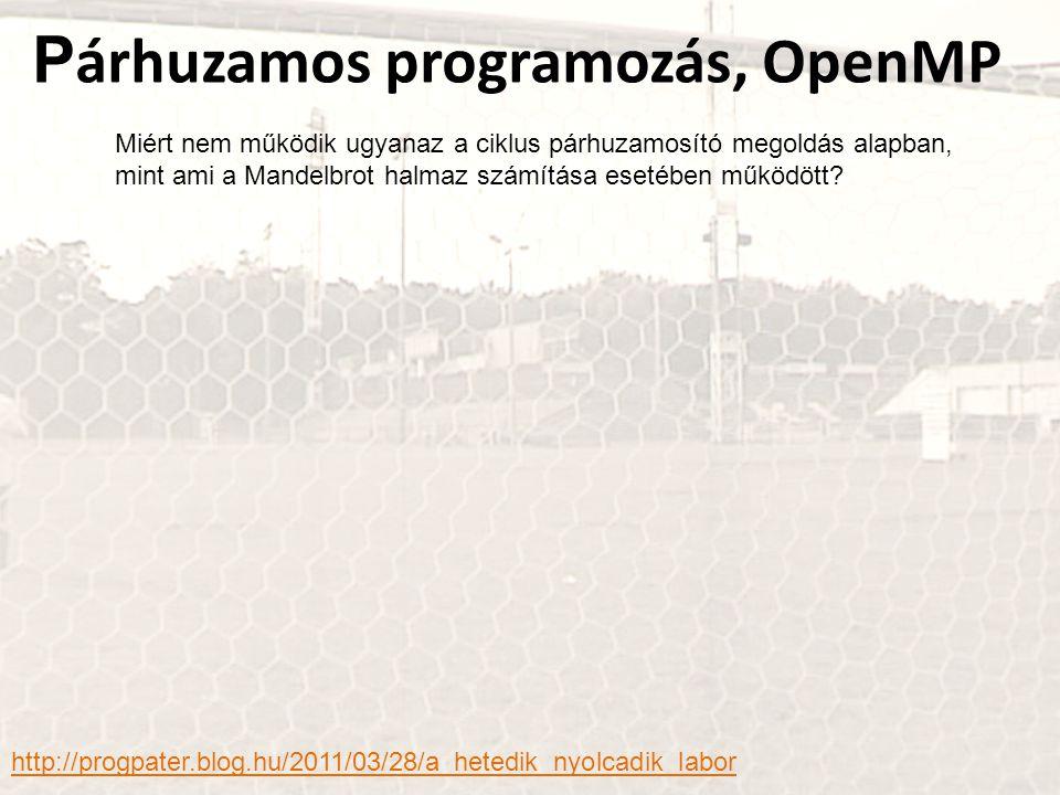 Párhuzamos programozás, OpenMP