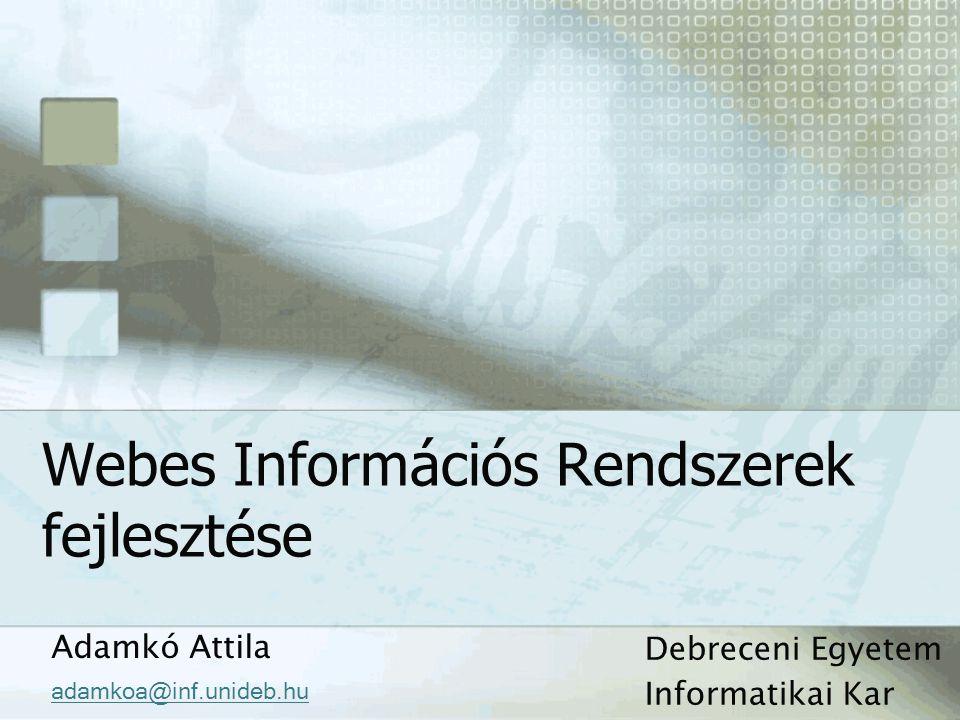Webes Információs Rendszerek fejlesztése
