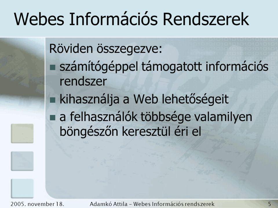 Webes Információs Rendszerek