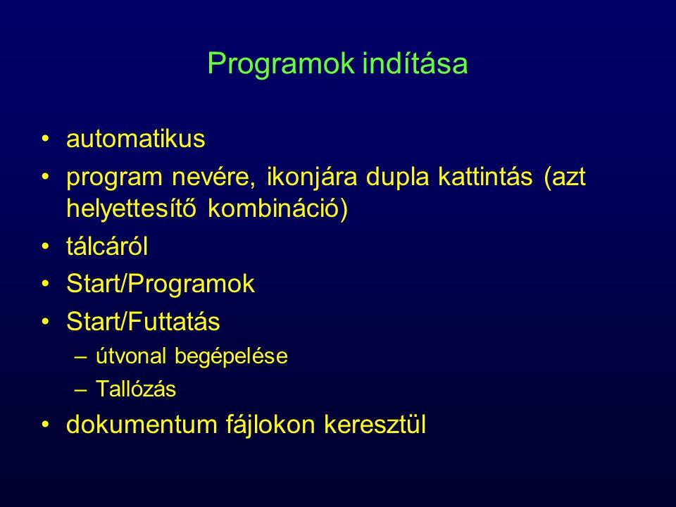 Programok indítása automatikus