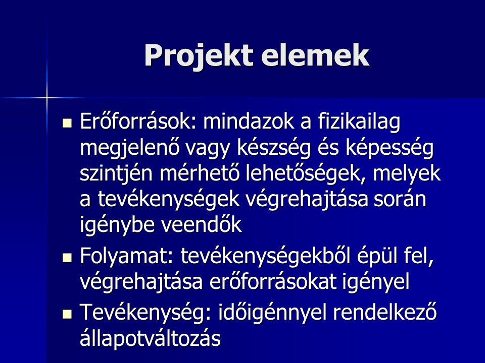Projekt elemek