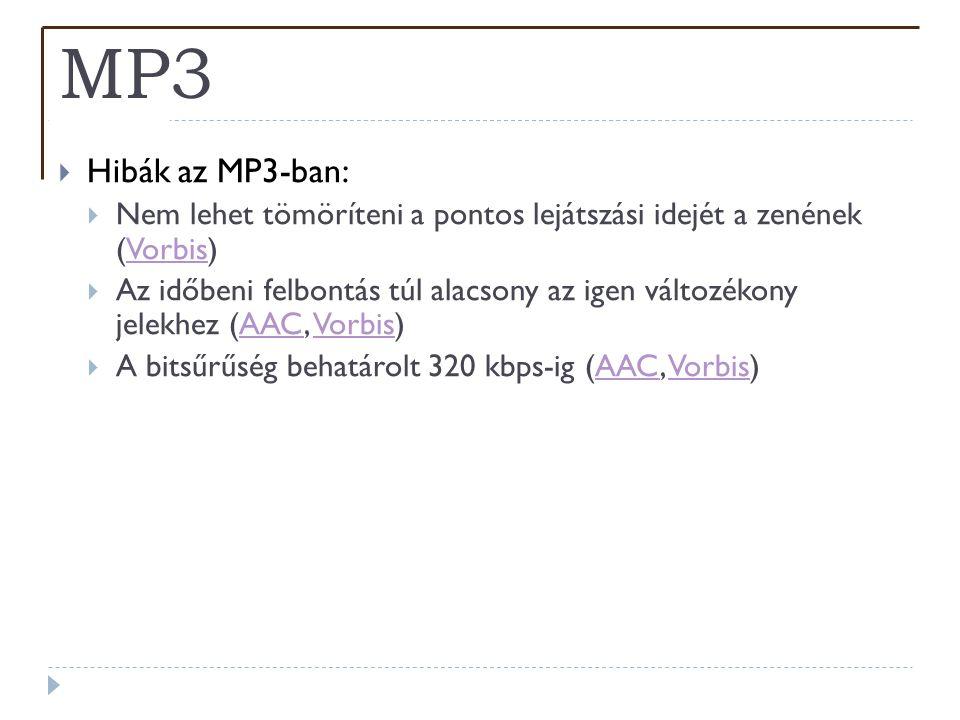 MP3 Hibák az MP3-ban: Nem lehet tömöríteni a pontos lejátszási idejét a zenének (Vorbis)