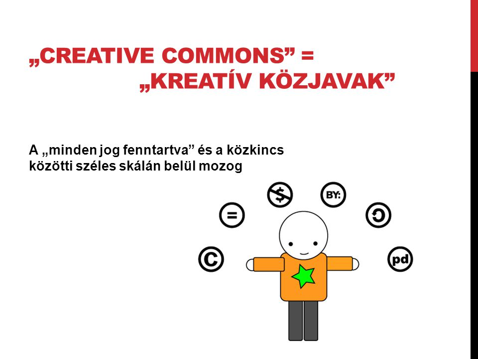 """Creative Commons = ""Kreatív Közjavak"