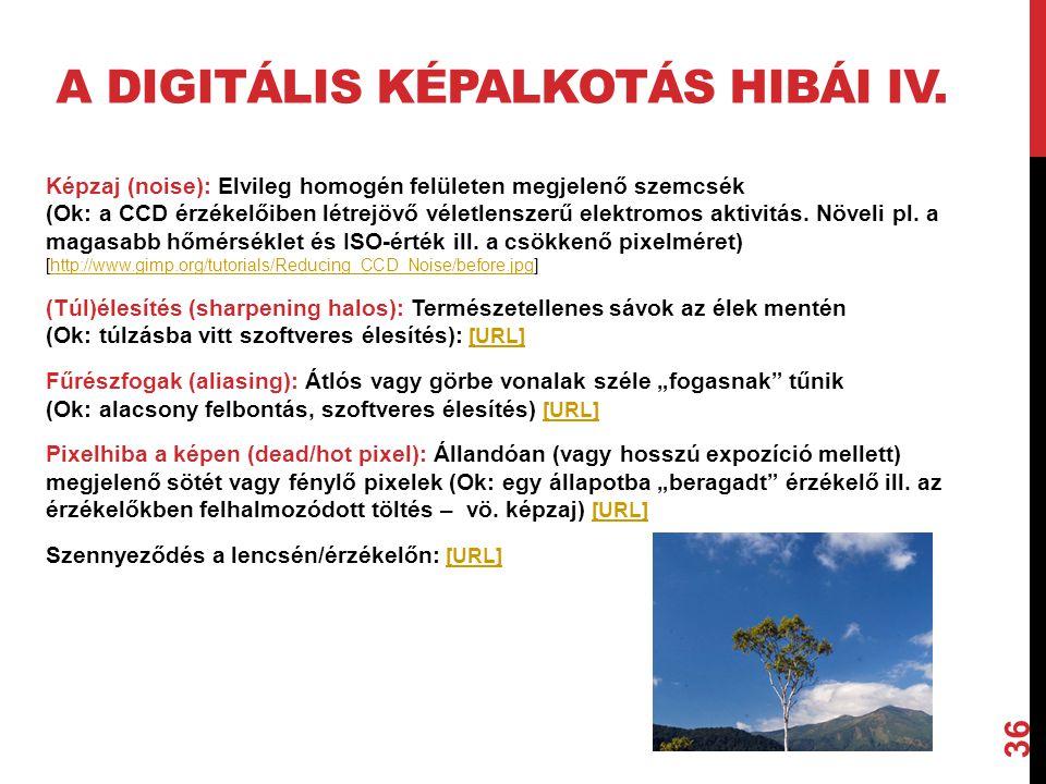A digitális képalkotás hibái IV.