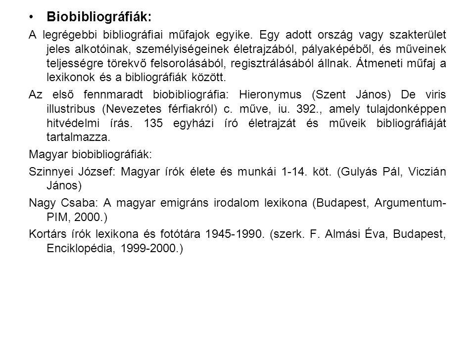 Biobibliográfiák: