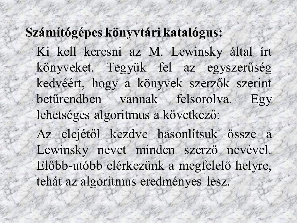 Számítógépes könyvtári katalógus: