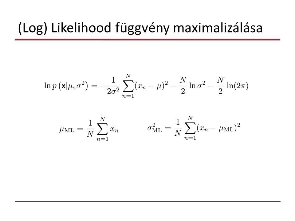 (Log) Likelihood függvény maximalizálása