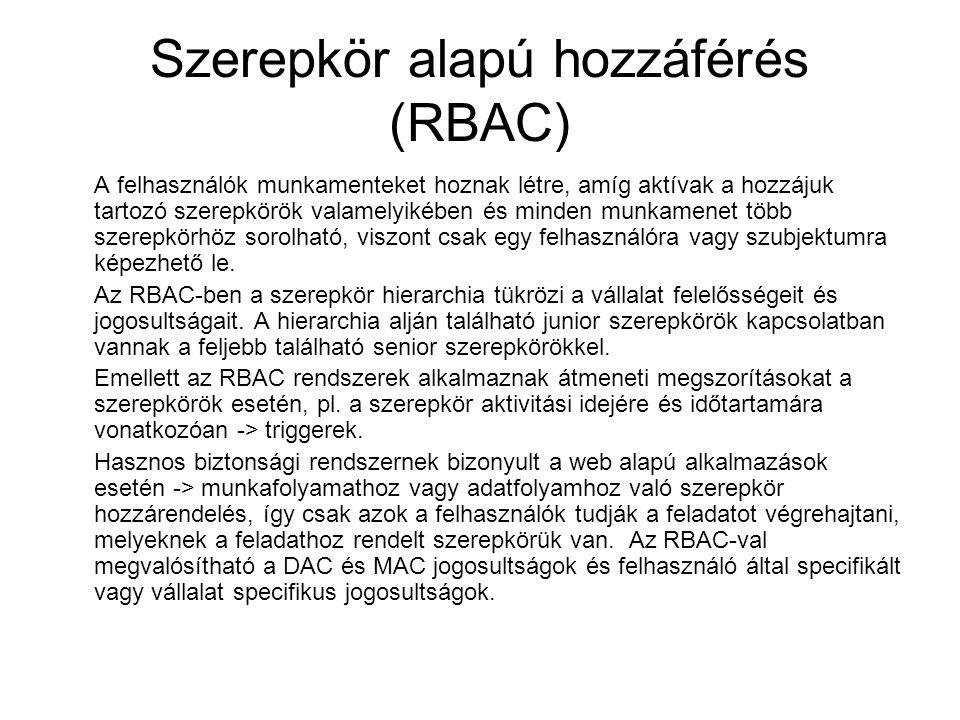 Szerepkör alapú hozzáférés (RBAC)
