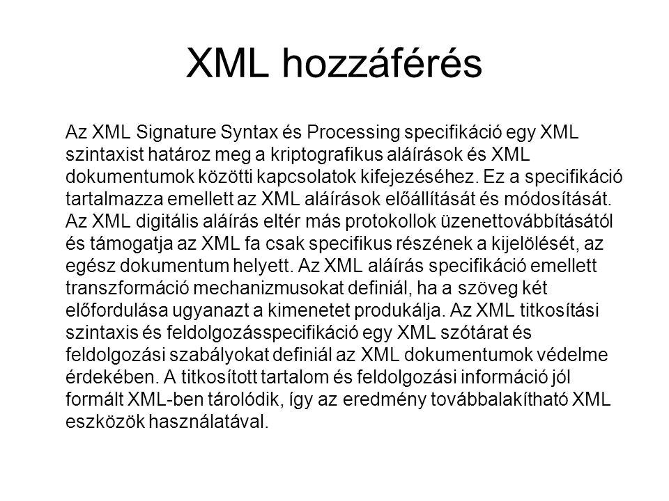 XML hozzáférés