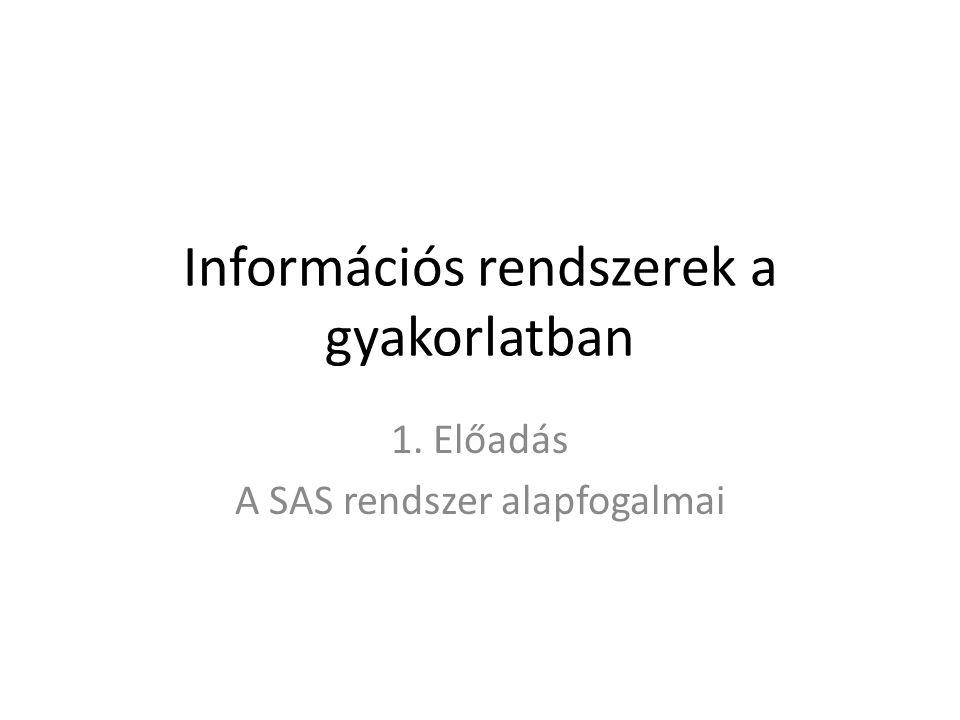 Információs rendszerek a gyakorlatban