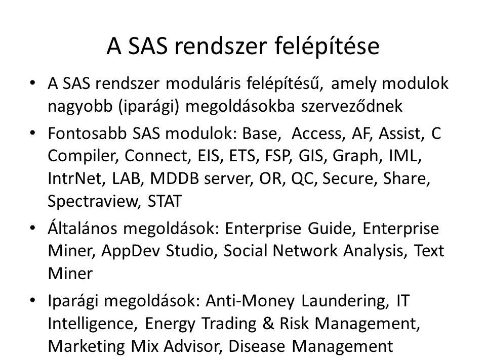 A SAS rendszer felépítése