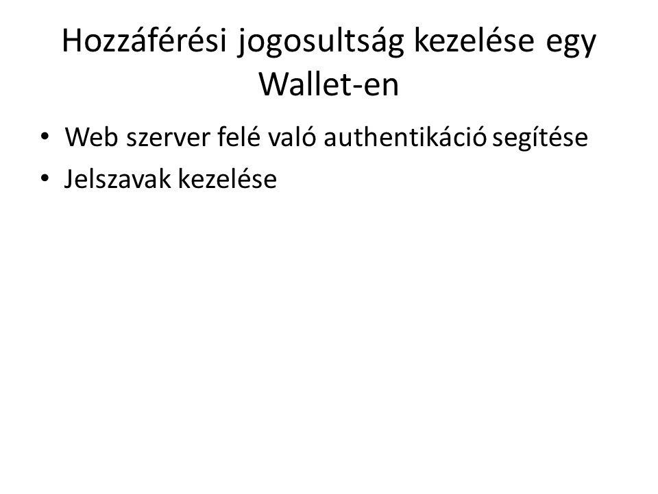 Hozzáférési jogosultság kezelése egy Wallet-en