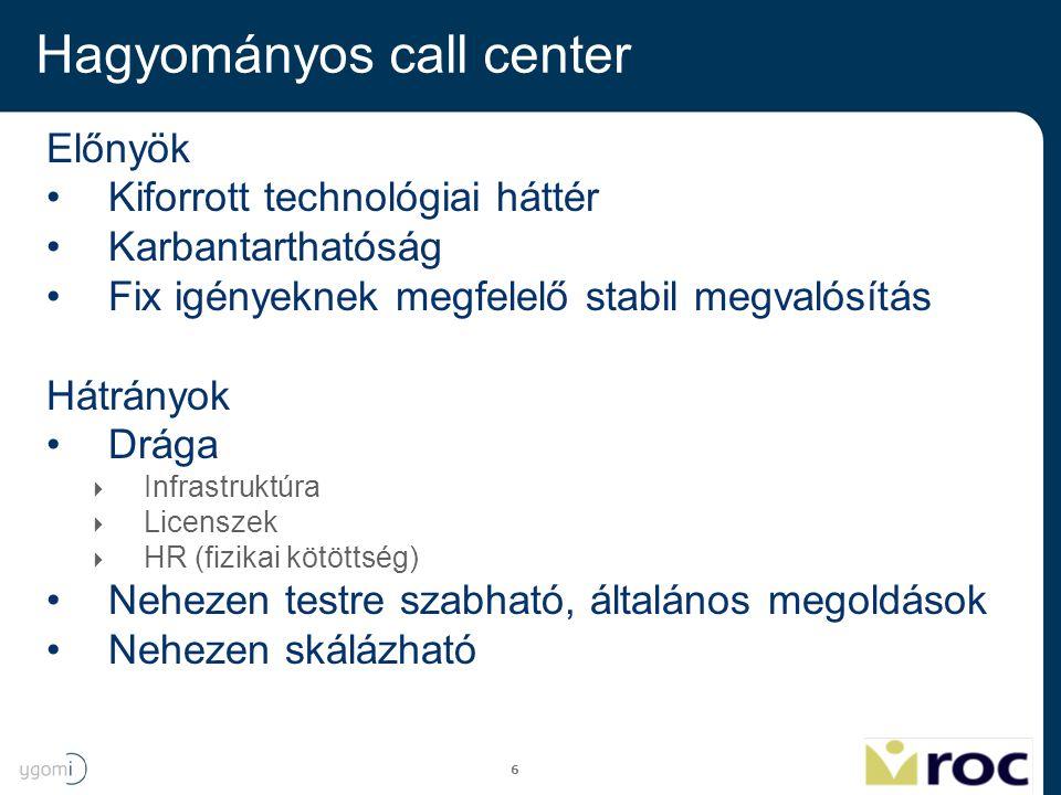 Hagyományos call center