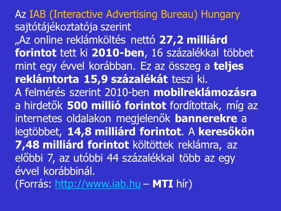 Az IAB (Interactive Advertising Bureau) Hungary sajtótájékoztatója szerint