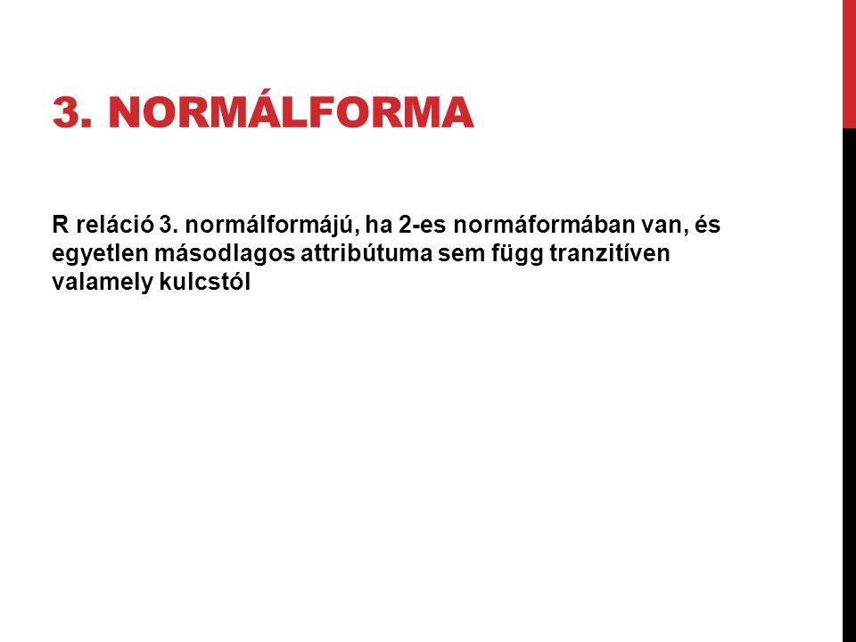 3. normálforma R reláció 3.