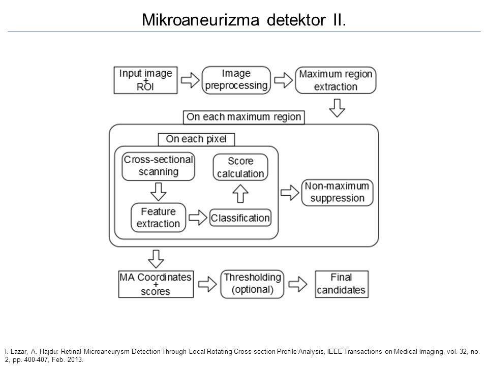Mikroaneurizma detektor II.