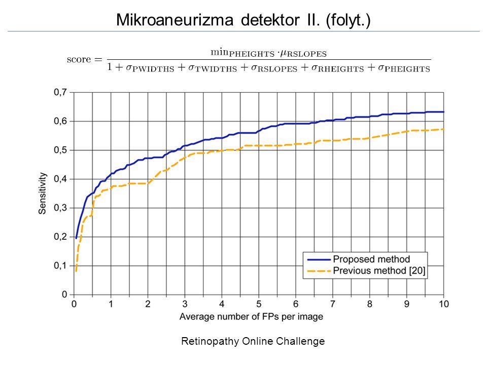 Mikroaneurizma detektor II. (folyt.)