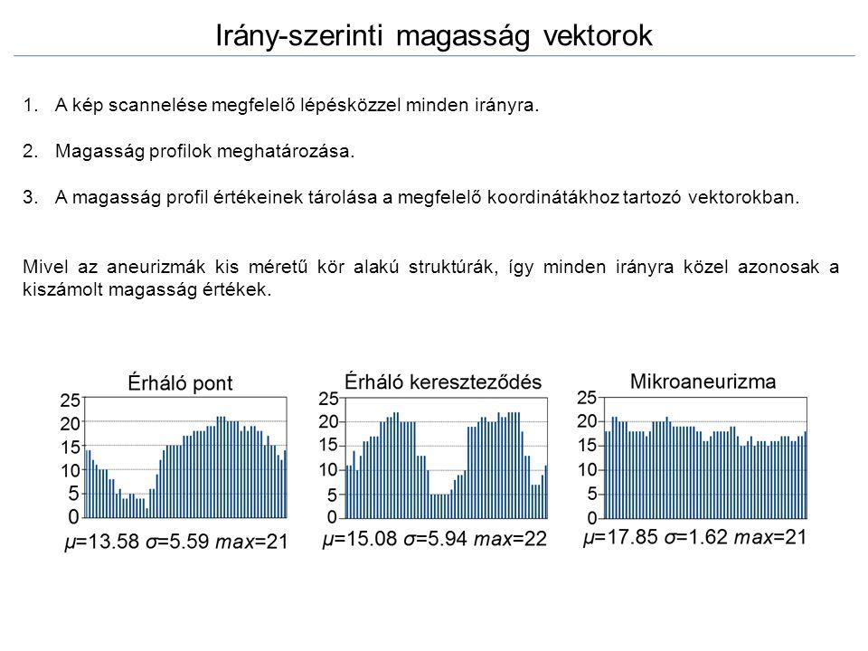 Irány-szerinti magasság vektorok