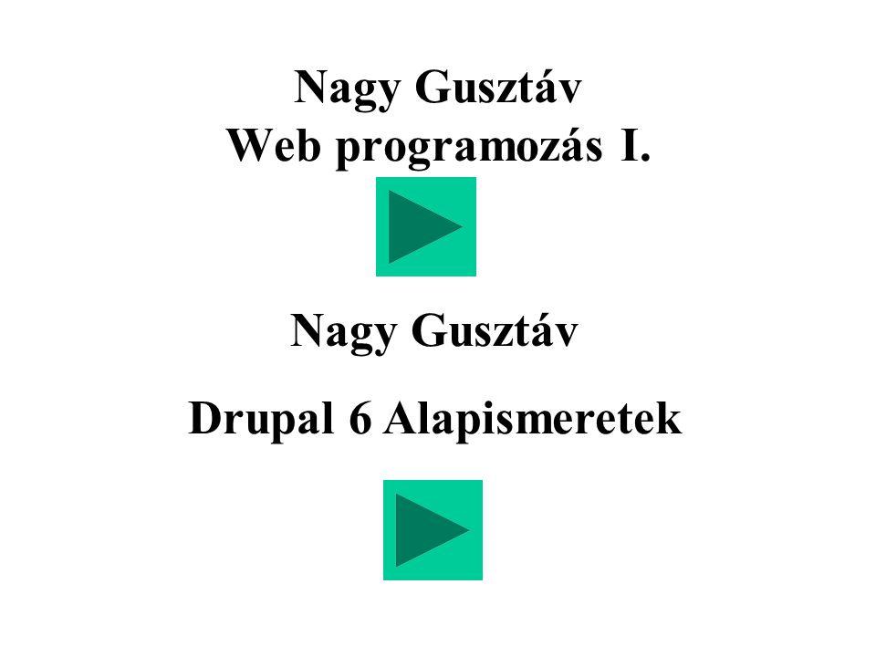 Nagy Gusztáv Web programozás I.
