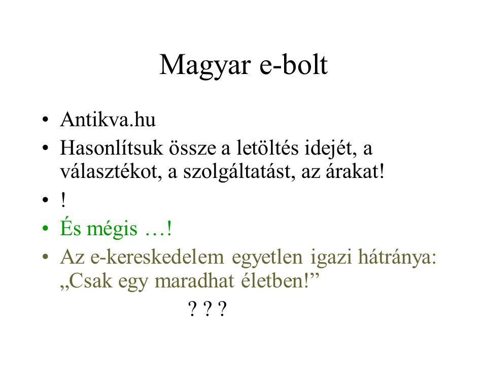 Magyar e-bolt Antikva.hu