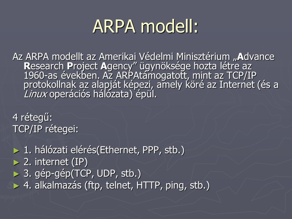 ARPA modell: