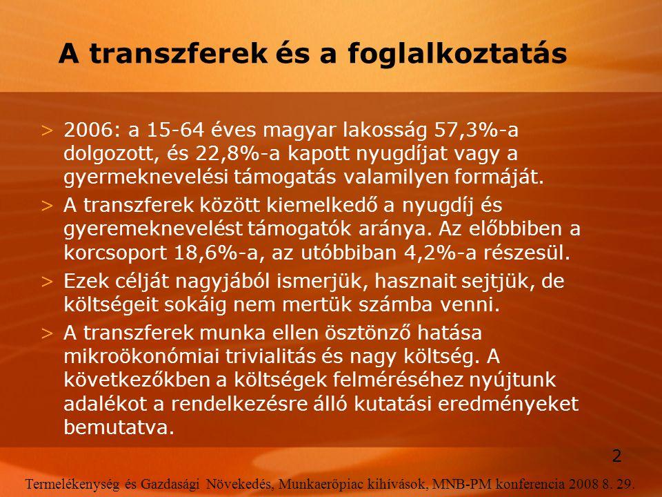 A transzferek és a foglalkoztatás