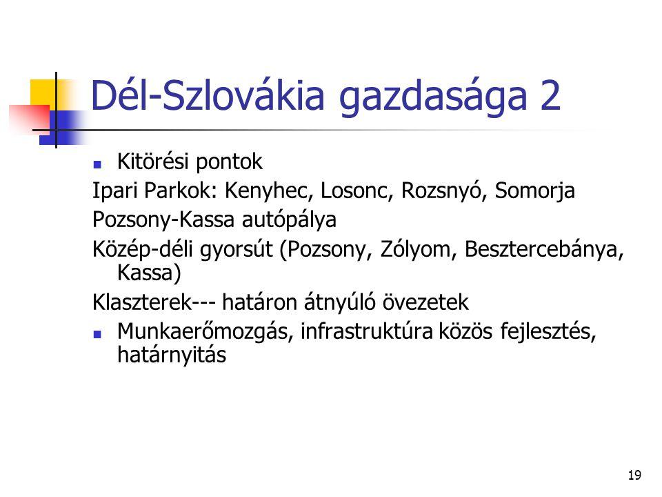 Dél-Szlovákia gazdasága 2