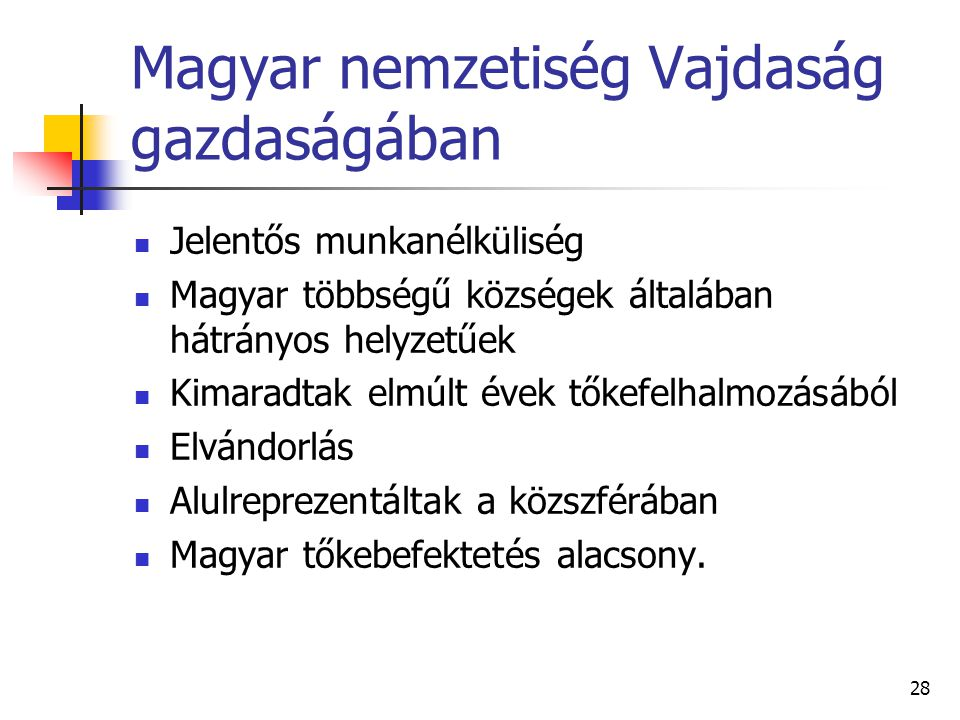 Magyar nemzetiség Vajdaság gazdaságában