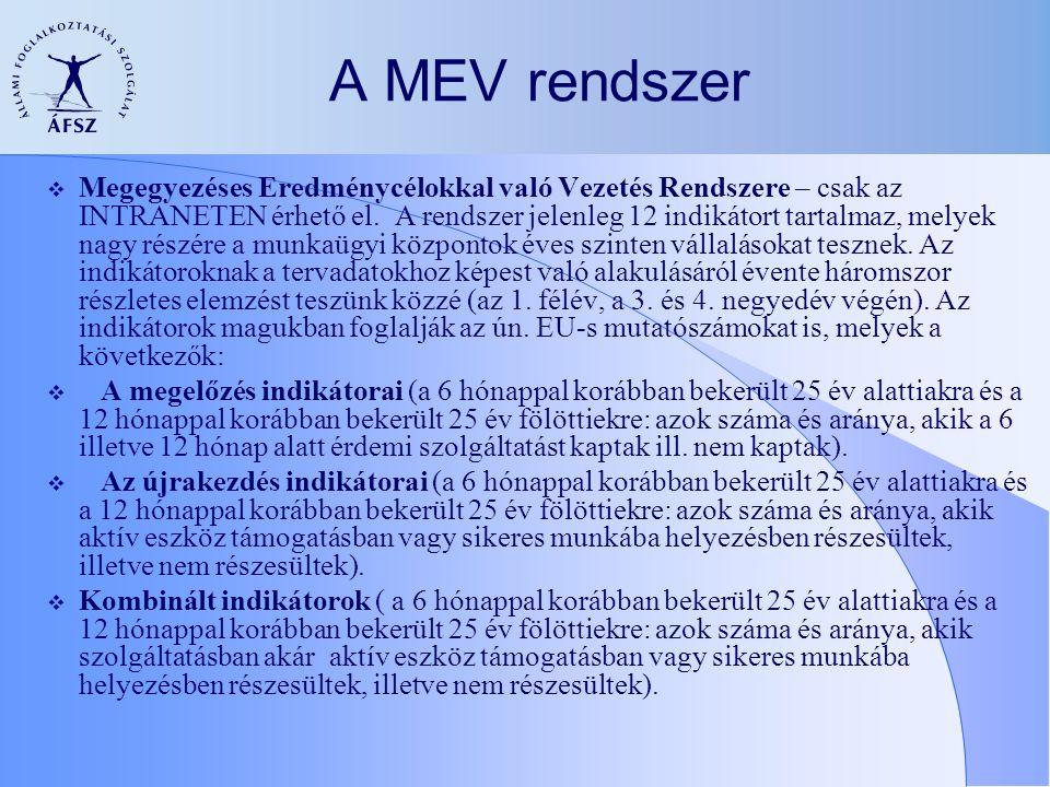A MEV rendszer