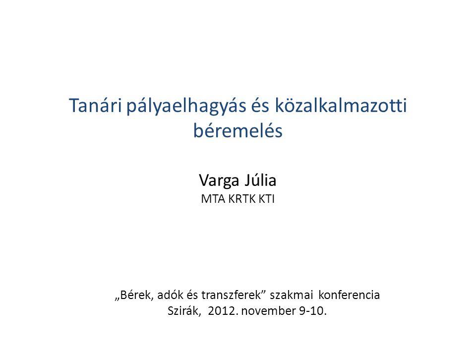 """""""Bérek, adók és transzferek szakmai konferencia"""