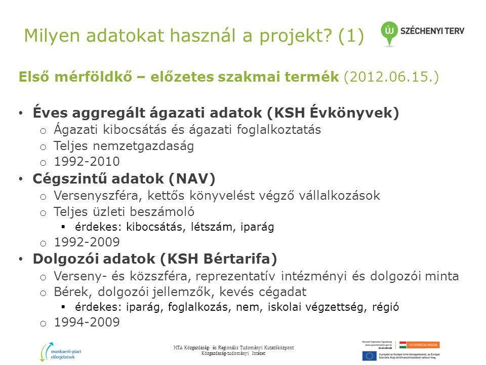 Milyen adatokat használ a projekt (1)