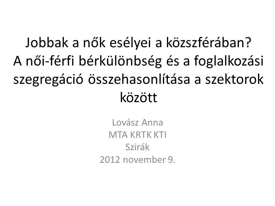 Lovász Anna MTA KRTK KTI Szirák 2012 november 9.