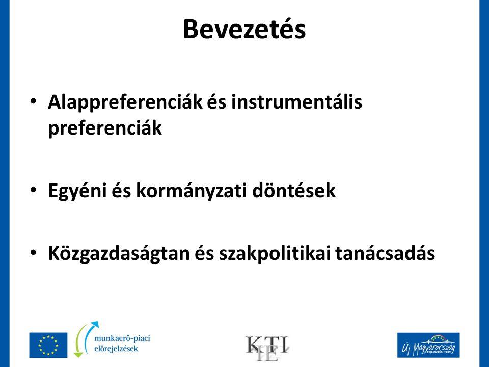 Bevezetés Alappreferenciák és instrumentális preferenciák