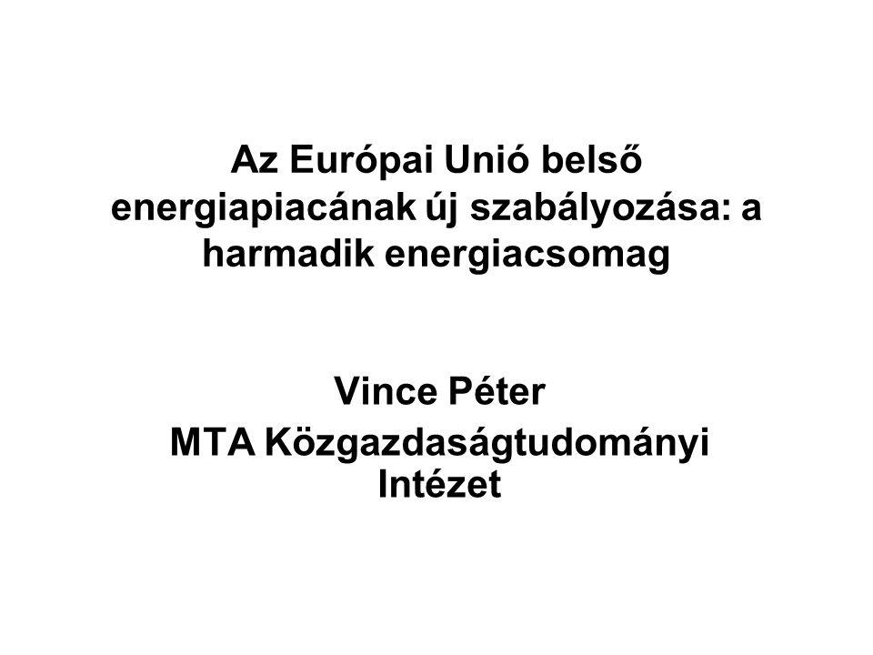 Vince Péter MTA Közgazdaságtudományi Intézet