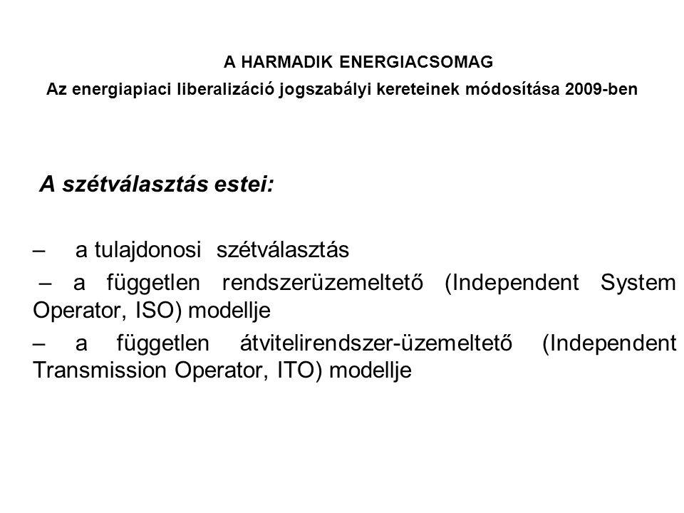 A HARMADIK ENERGIACSOMAG