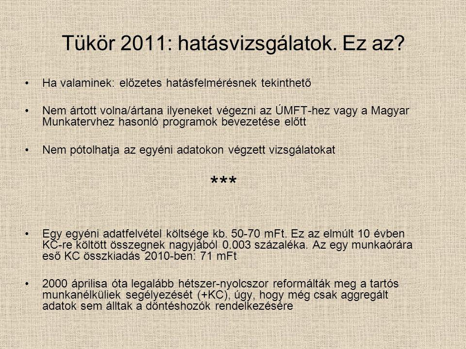 Tükör 2011: hatásvizsgálatok. Ez az