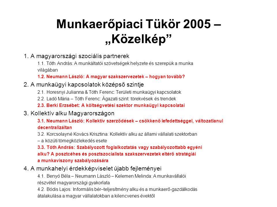 """Munkaerőpiaci Tükör 2005 – """"Közelkép"""