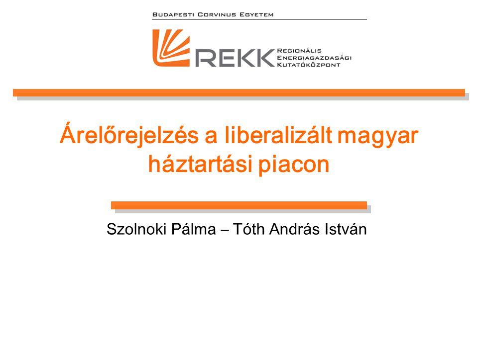 Árelőrejelzés a liberalizált magyar háztartási piacon