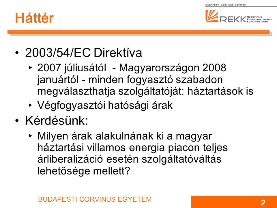 Háttér 2003/54/EC Direktíva Kérdésünk: