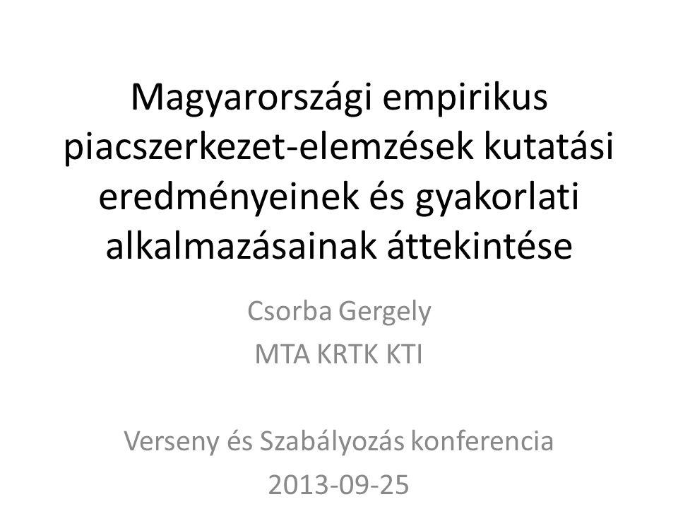 Verseny és Szabályozás konferencia