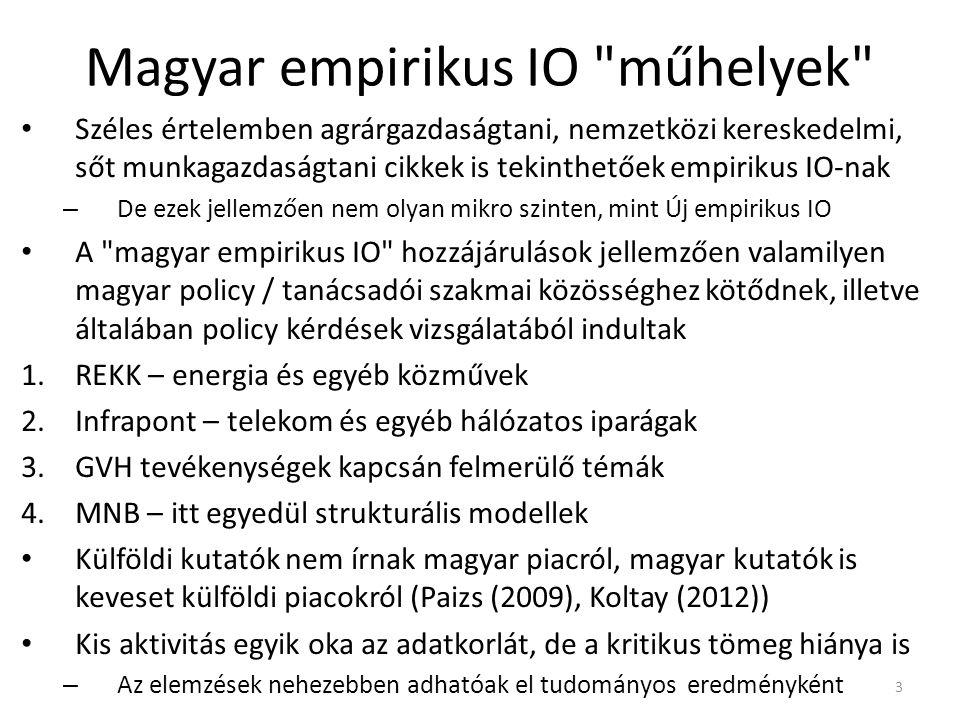 Magyar empirikus IO műhelyek