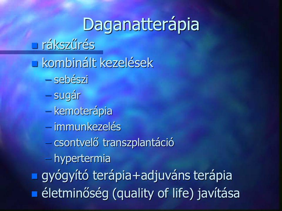 Daganatterápia rákszűrés kombinált kezelések