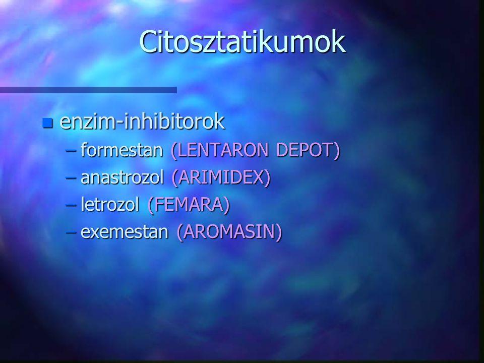 Citosztatikumok enzim-inhibitorok formestan (LENTARON DEPOT)