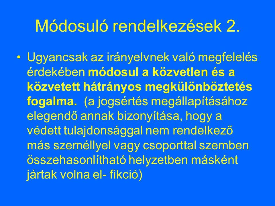 Módosuló rendelkezések 2.